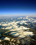 Aerial view of a ski resort in the mountains of Colorado