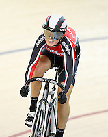 Canterbury's Olivia Podmore at the BikeNZ Elite & U19 Track National Championships, Avantidrome, Home of Cycling, Cambridge, New Zealand, Sunday, March 16, 2014. Credit: Dianne Manson