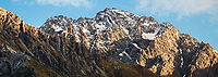 Mt. Blackburn 2409m of Southern Alps at sunset, Aoraki Mount Cook National Park, UNESCO World Heritage Area, Mackenzie Country, New Zealand, NZ