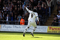 Pictured: Jason Scotland of Swansea City in action<br /> Re: Coca Cola Championship, Swansea City FC v Norwich City FC at the Liberty Stadium Swansea, south Wales. Saturday 11 April 2009.<br /> Picture by D Legakis Photography / Athena Picture Agency, Swansea 07815441513