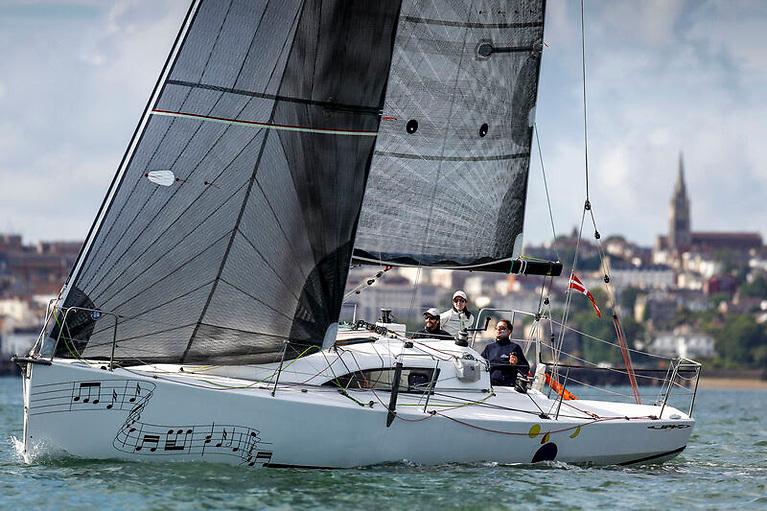 Emmanuel Pinteaux's JPK 10.10 Gioia was second in class in the 2019 race Photo: Paul Wyeth