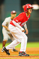 Jake Runte #13 of the Houston Cougars takes his lead off of third base against the Texas A&M Aggies at Minute Maid Park on March 6, 2011 in Houston, Texas.  Photo by Brian Westerholt / Four Seam Images