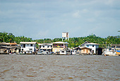 Pará State, Brazil. Gurupá, at the mounth of the Xingu River with the Amazon.
