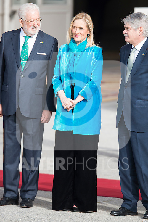 President of Madrid Community, Cristina Cifuentes during state visit of the president of Argentinian Republic, Sr. Mauricio Macri and Sra Juliana Awada at Real Palace in Madrid, Spain. February 19, 2017. (ALTERPHOTOS/BorjaB.Hojas)