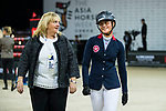 Walk the Course prior to the Longines Speed Challenge during the Longines Masters of Hong Kong at AsiaWorld-Expo on 10 February 2018, in Hong Kong, Hong Kong. Photo by Ian Walton / Power Sport Images