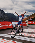 David Gaudu (FRA) Groupama-FDJ wins Stage 11 of the Vuelta Espana 2020 running 170km from Villaviciosa to Alto de la Farrapona, Spain. 31st October 2020. <br /> Picture: Unipublic/BaixauliStudio | Cyclefile<br /> <br /> All photos usage must carry mandatory copyright credit (© Cyclefile | Unipublic/BaixauliStudio)