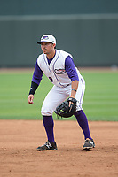 Winston-Salem Dash first baseman Brady Conlan (9) on defense against the Carolina Mudcats at BB&T Ballpark on May 21, 2017 in Winston-Salem, North Carolina.  The Mudcats defeated the Dash 3-0 in 10 innings.  (Brian Westerholt/Four Seam Images)