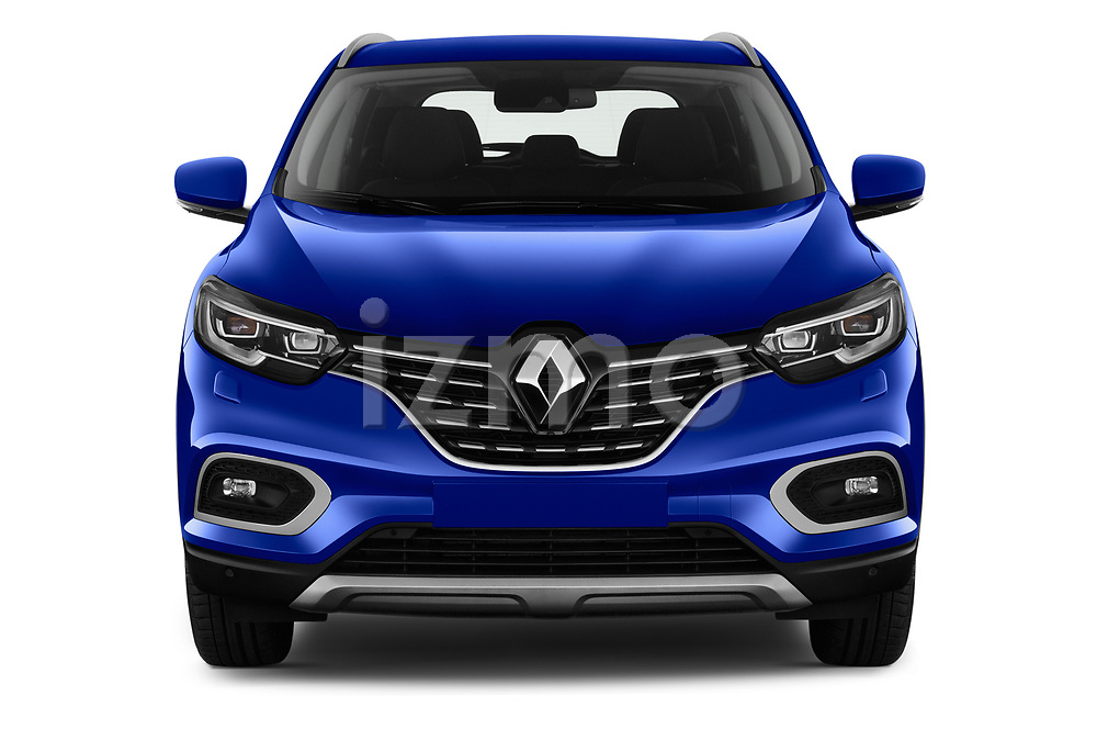 Car photography straight front view of a 2019 Renault Kadjar Black-Edition 5 Door SUV