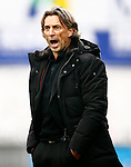 Nederland, Zwolle, 18 oktober 2015<br /> Eredivisie<br /> Seizoen 2015-2016<br /> PEC Zwolle-Vitesse<br /> Rob Maas fungeert als trainer-coach omdat Peter Bosz vanwege een schorsing op de tribune zit