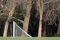 Goal posts are seen in Victoria Park prior to the kick-off of Sunday football matches - 03/02/08 - MANDATORY CREDIT: Gavin Ellis/TGSPHOTO - Self billing applies where appropriate - Tel: 0845 094 6026