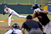 New Orleans Zephyrs pitcher Justin Nicolino (24) throws to Albuquerque Isotopes left fielder Tim Wheeler (7) in a game at Zephyr Field on May 28, 2015 in Metairie, Louisiana. (Derick E. Hingle/Four Seam Images)
