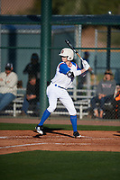 Adam Fallon (7) of Bishop Watterson High School in Powell, Ohio during the Baseball Factory All-America Pre-Season Tournament, powered by Under Armour, on January 13, 2018 at Sloan Park Complex in Mesa, Arizona.  (Mike Janes/Four Seam Images)