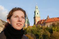 Poland, Krakow, Wawel, Royal Castle, portrait of woman