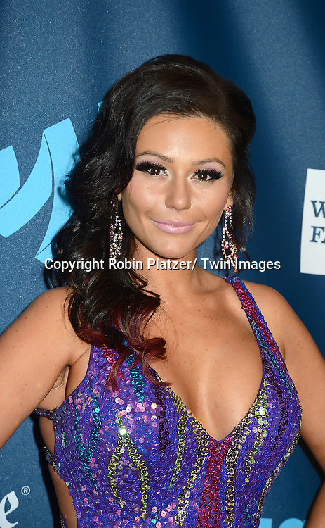 """Jenni """"JWoww"""" Farley attends the 24th Annual GLAAD Media Awards on March 16, 2013 at The Marriott Marquis in New York City."""