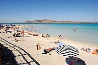 Strand am Capo del Falcone bei Stintino, Provinz Sassari, Nord - Sardinien, Italien