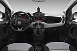 Stock photo of straight dashboard view of 2017 Fiat Panda Lounge 5 Door Hatchback Dashboard