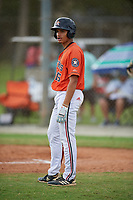 Alan Espinal (16) during the WWBA World Championship at the Roger Dean Complex on October 12, 2019 in Jupiter, Florida.  Alan Espinal attends Viera High School in Viera, FL and is Uncommitted.  (Mike Janes/Four Seam Images)