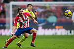 Jorge Resurreccion Merodio, Koke (L), of Atletico de Madrid competes for the ball with Francisco Portillo Soler of Getafe CF during the La Liga 2017-18 match between Atletico de Madrid and Getafe CF at Wanda Metropolitano on January 06 2018 in Madrid, Spain. Photo by Diego Gonzalez / Power Sport Images