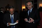 """FRANCO BASSANINI CON ETTORE GOTTI TEDESCHI<br /> PRESENTAZIONE SIGARO TOSCANO """"OPERA """" MST A VILLA AURELIA  ROMA 2014"""