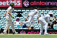 10th January 2021; Sydney Cricket Ground, Sydney, New South Wales, Australia; International Test Cricket, Third Test Day Four, Australia versus India; Mohammed Siraj of India bowling
