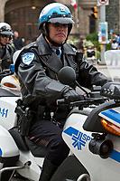 Photo d'archive de la police de Montreal -<br /> motard<br /> <br /> PHOTO :  AGENCE QUEBEC PRESSE