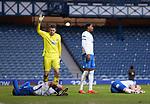 13.02.2021 Rangers v Kilmarnock: Leon Balogun and Brandon Haunstrup after suffering head knocks