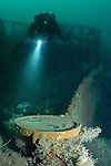 In 2008, technical divers ventured further offshore East Scotland than ever before. What they found was a shipwreck intact and upright in 55m. A 'virgin' wreck never been dived or visited before ensured artefacts lay scattered over the wreck site. China plates recovered from the wreck site aided identification from the shipping line and losses in the area.
