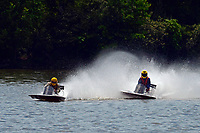 Frame 16: 40-M rides up the rooster tail of 20-M    (Outboard Hydroplane)