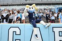 CHAPEL HILL, NC - OCTOBER 10: North Carolina's mascot Rameses poses during a game between Virginia Tech and North Carolina at Kenan Memorial Stadium on October 10, 2020 in Chapel Hill, North Carolina.