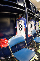 Houston, TX - Tuesday June 21, 2016: Clint Dempsey, United States locker room prior to a Copa America Centenario semifinal match between United States (USA) and Argentina (ARG) at NRG Stadium.