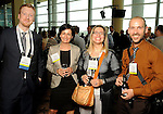 From left: Matt Simms, Marie Schmidt, Elisabetta Sartirana and Paolo Danubio at the Texas A&M Energy Institute reception at the West Club in Reliant Stadium Wednesday May 2,2012. (Dave Rossman Photo)