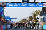 Wout Van Aert (BEL) Team Jumbo-Visma wins Stage 1 of Tirreno-Adriatico Eolo 2021, running 156km from Lido di Camaiore to Lido di Camaiore, Italy. 10th March 2021. <br /> Photo: LaPresse/Gian Mattia D'Alberto   Cyclefile<br /> <br /> All photos usage must carry mandatory copyright credit (© Cyclefile   LaPresse/Gian Mattia D'Alberto)