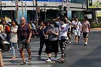 Bangkok, Thailande en fevrier 2020,<br />  au debut de la pandemie du COVID 19