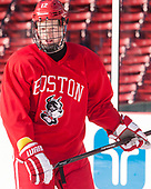 Chase Phelps (BU - 12) - The Boston University Terriers practiced on the rink at Fenway Park on Friday, January 6, 2017.The Boston University Terriers practiced on the rink at Fenway Park on Friday, January 6, 2017.