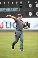 Danny Jipping (45) of the Boise Hawks throws before a game against the Everett AquaSox at Everett Memorial Stadium on July 21, 2017 in Everett, Washington. Boise defeated Everett, 10-4. (Larry Goren/Four Seam Images)