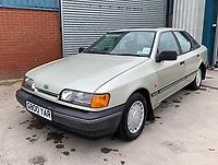 BNPS.co.uk (01202 558833)<br /> Pic: HampsonAuctions/BNPS<br /> <br /> Pictured: 1989 Ford Granada 2.0i GL.<br /> <br /> Since the 1990s, Geoff Barlow, 46, has collected dozens of classic cars from an Escort Mexico replica to several types of Transit, Cortina, and Sierra.<br /> <br /> However, he still regrets selling the first car which inspired his passion, a 1980 Escort Mark 2 he bought from his sister in 1992.  <br /> <br /> Geoff's fascination with Fords gathered pace in the last decade and he 'lost control,' buying as many Fords as he came across and saving them from disrepair.