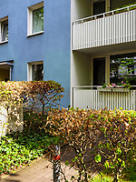 Wohnanlage Falkenried 64 umstrukturiert ehemaliges Straßenbahndepot und Fahrzeugwerkstätten in Hamburg-Hoheluft-Ost, Deutschland, Europa<br /> housing complex Falkenried 64 in former streetcar-depot and workshop in Hamburg-Hoheluft-Ost, Germany, Europe