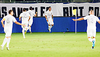 CARSON, CA - SEPTEMBER 06: Cristian Pavon #10 of the Los Angeles Galaxy celebrates his goal during a game between Los Angeles FC and Los Angeles Galaxy at Dignity Health Sports Park on September 06, 2020 in Carson, California.