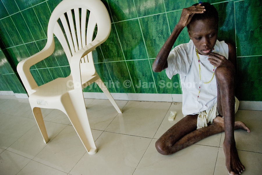 A nineteen years old Haitian girl is dying of AIDS in the hospice in the slum of Cité Soleil, Port-au-Prince. Haiti belongs to countries which are most affected by HIV/AIDS. It has the the highest HIV infection level in the Americas. Social instability and educational deficit cause that information about HIV and its prevention is very poor. Access to the treatment is limited due to economical situation in Haiti.