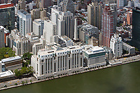 aerial photograph Hospital for Special Surgery, East River Esplanade, Manhattan, New York City