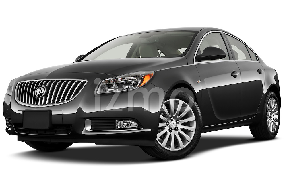 Low aggressive front three quarter view of a 2011 Buick Regal CXL Sedan