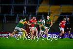 David Clifford, Kerry in action against Sean Powter, Cork, during the Munster GAA Football Senior Championship Semi-Final match between Cork and Kerry at Páirc Uí Chaoimh in Cork.