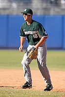 Michigan State Spartans Andrew Rademacher #18 during a game vs the Akron Zips at Chain of Lakes Park in Winter Haven, Florida;  March 12, 2011.  Michigan State defeated Akron 5-1.  Photo By Mike Janes/Four Seam Images