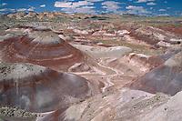 Bentonite Hills and Capitol Reef<br /> Noton Cutoff Road<br /> BLM Henry Mountains Resource Area<br /> Colorado Plateau,  Utah