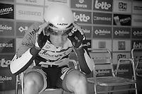Tour of Belgium 2013.stage 3: iTT..Jürgen Roelandts (BEL) checking his visor in 'TT-position'.