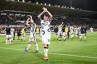 21nd September 2021; Artemio Franchi Stadium, Florence, Italy; Serie A championship football, AC Fiorentina versus Inter MIlan; Alessandro Bastoni of FC Internazionale  celebrate the victory at the end of the match