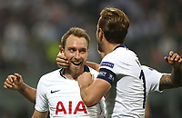 Football Soccer: UEFA Champions League FC Internazionale Milano vs Tottenham Hotspur FC, Giuseppe Meazza stadium, September 15, 2018.<br /> Tottenham's Christian Eriksen (l) celebrates after scoring with his captain Harry Kane (r) during the Uefa Champions League football match between Internazionale Milano and Tottenham Hotspur at Giuseppe Meazza (San Siro) stadium, September 18, 2018.<br /> UPDATE IMAGES PRESS/Isabella Bonotto