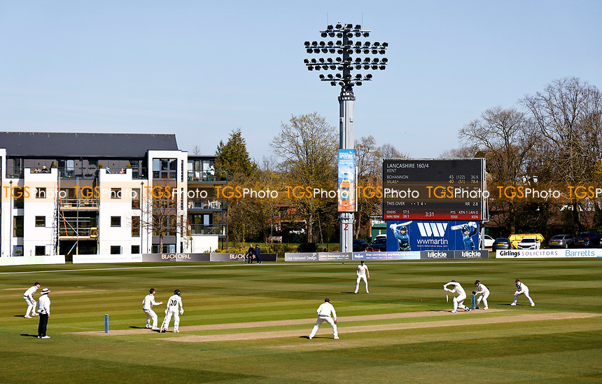 General view of the Spitfire ground during Kent CCC vs Lancashire CCC, LV Insurance County Championship Group 3 Cricket at The Spitfire Ground on 22nd April 2021