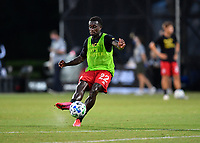 LAKE BUENA VISTA, FL - JULY 26: Richie Laryea of Toronto FC warms up during a game between New York City FC and Toronto FC at ESPN Wide World of Sports on July 26, 2020 in Lake Buena Vista, Florida.