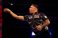 9th October 2021; Morningside Arena, Leicester, England; PDC BoyleSports Darts World Grand Prix finals ;  Gerwen Price in action against Jonny Clayton